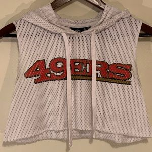 Cut Off San Francisco 49ers NFL Mesh Crop Top XS